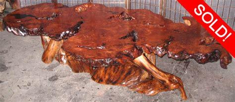 redwood burl table redwood burl by artisan burlwood
