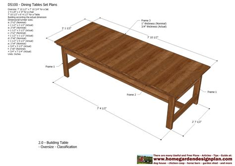 dining table plans woodworking free home garden plans ds100 dining table set plans