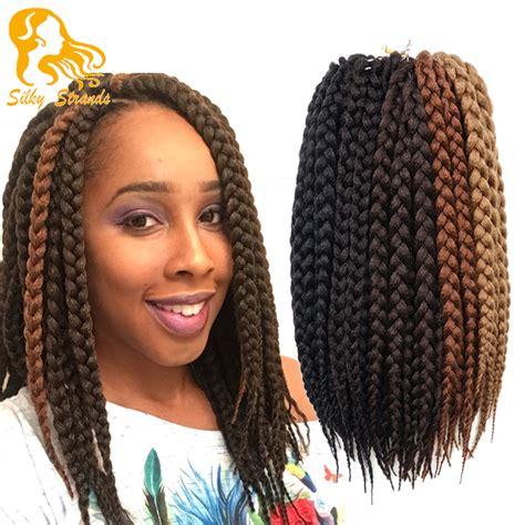 box braids hairstyle human hair or synthtic wholesale hair synthetic ombre braiding hair crochet box