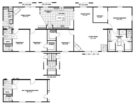 two bedroom rv floor plans manufactured homes clayton sed blue home rv and