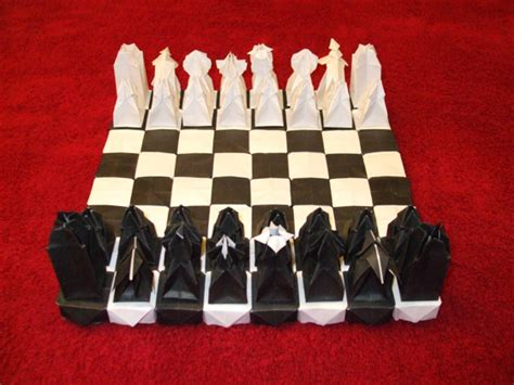origami chess set original design unique chess sets chess