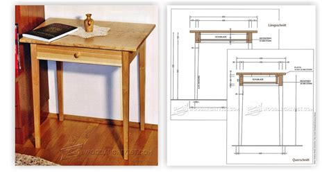 woodworking plans side table one drawer side table plans woodarchivist