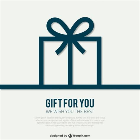 gift images free card template with gift box vector free
