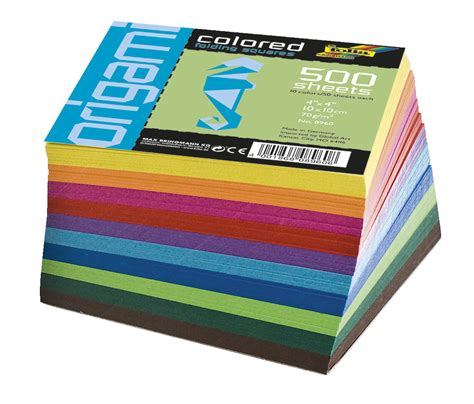 solid origami paper folia origami paper assorted solid colors 4 x 4 in 500