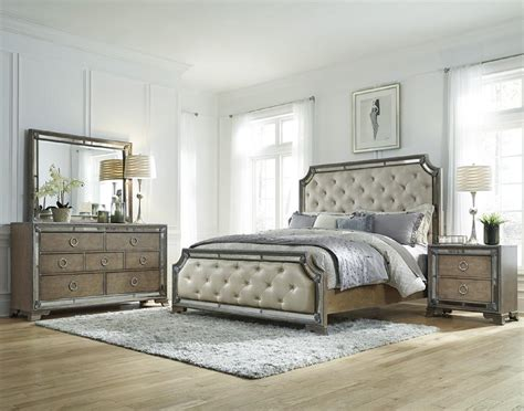 mirrored bedroom furniture set the gallery for gt upholstered king bedroom sets