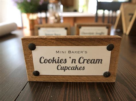 buffet food signs set of 7 wood food dessert tags signs for wedding buffet
