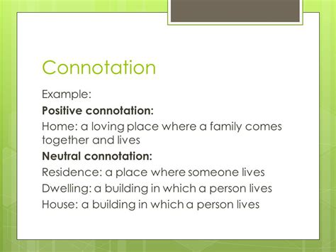 neutral connotation connotation denotation ppt