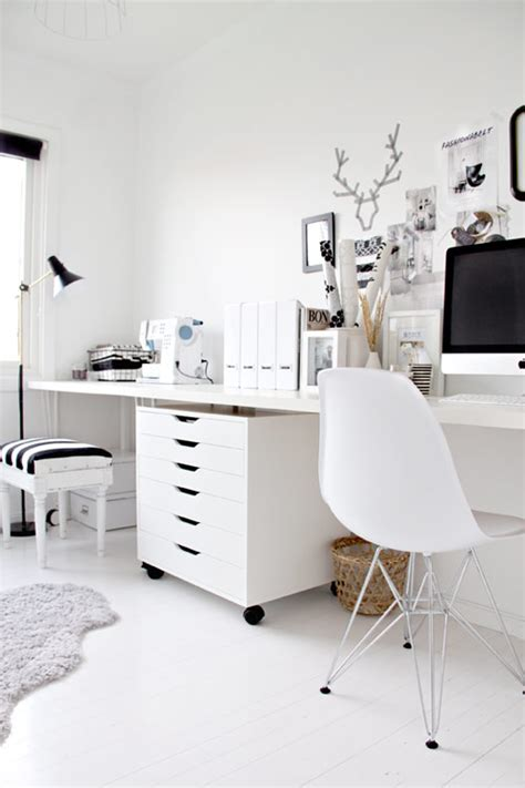 white home office black white home office