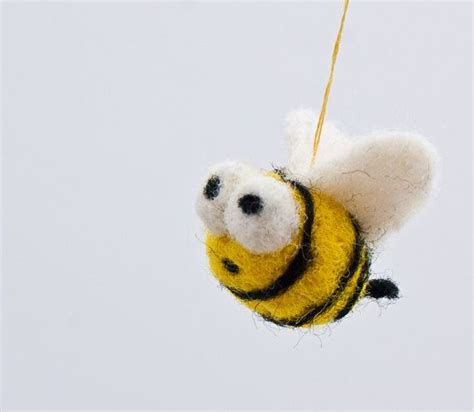 bumble bee ornament tiny bumble bee ornament decoration handmade felted
