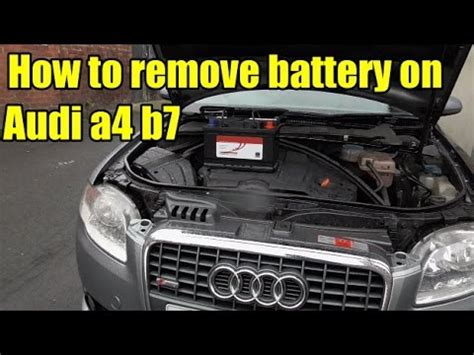 Audi Car Battery by How To Remove Audi A4 B7 Battery