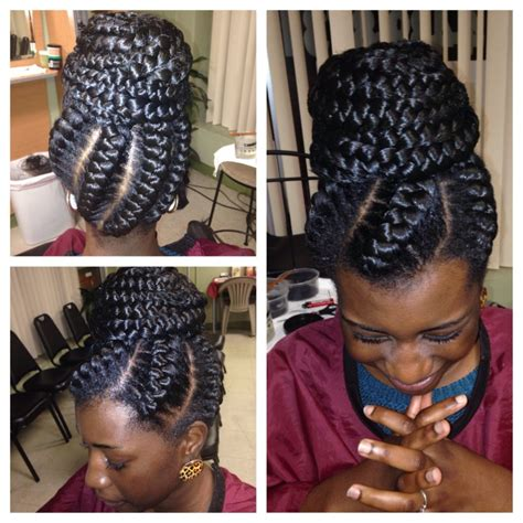 braids with big cornrow braids in a buns styles protective hairstyles