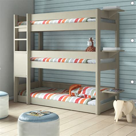 bedroom 3 tier bunk bed bunkbed modern
