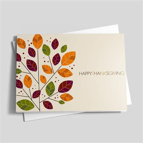 how to make thanksgiving cards modern change thanksgiving card leaves by brookhollow