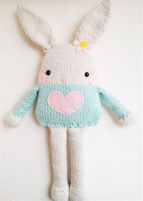 knit bunny pattern bunny knitting pattern easter bunny softie pattern pdf