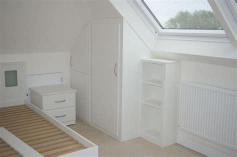 loft bedroom furniture bespoke white gloss bedroom furniture in loft conversion