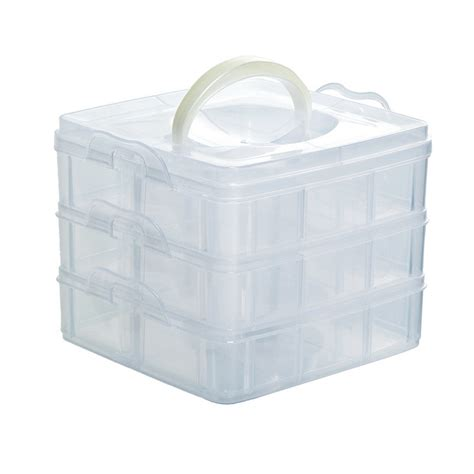 jewelry storage containers 2016 new jewelry storage 3 layer 18 compartments plastic
