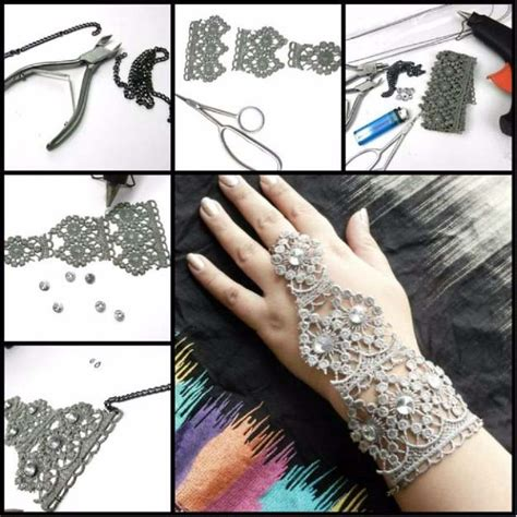 how to make cool jewelry at home crafts you can make with lace diy