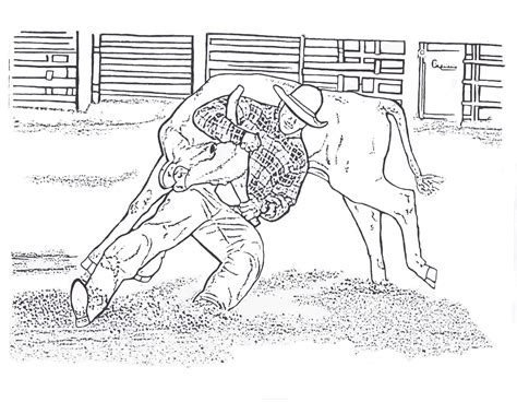 rodeo coloring pages july 2013