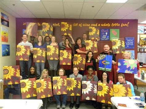 paint with a twist orlando sunflowers foto di painting with a twist orlando