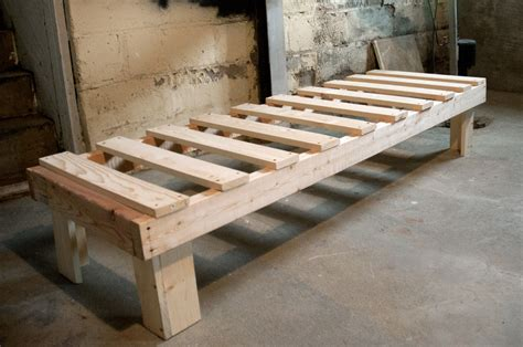 how to build a bed frame from wood once i made a bed my other backyard