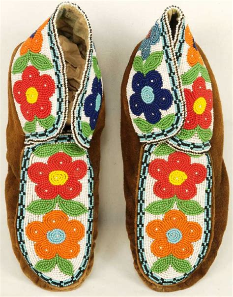 beaded american moccasins american beaded moccasins