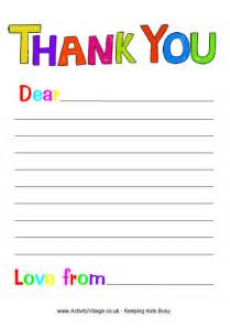 free printable papers for card free printable thank you note paper for children search