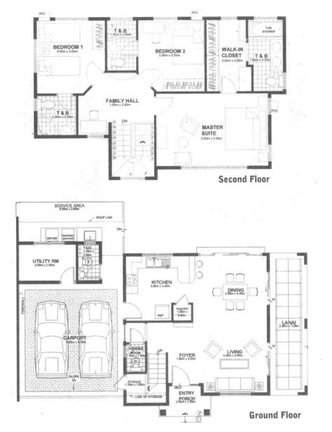 floor layout plans menlo park bf homes paranaque city philippines