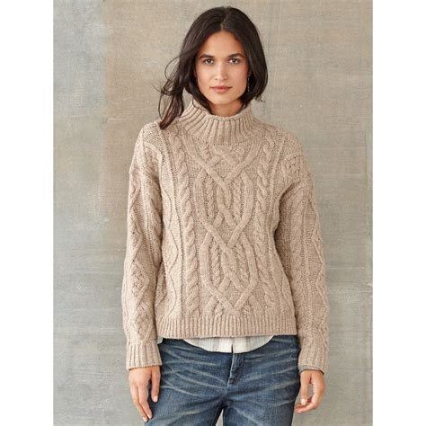 cable knit wool sweater rrl tessa cable knit wool sweater in lyst