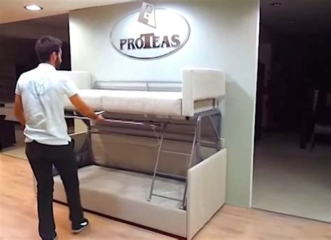 sofa to bunk bed tiny house furniture sofa to bunk bed in 14 seconds