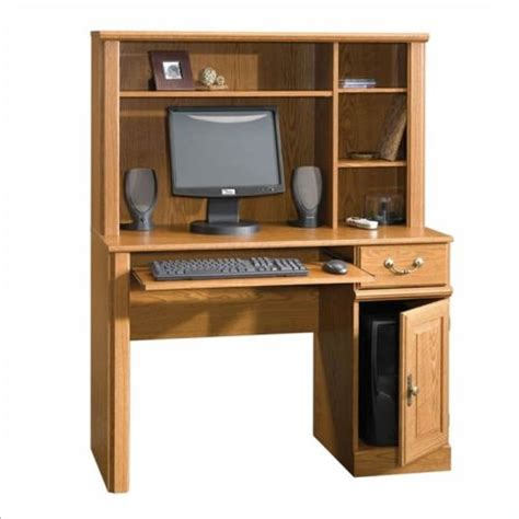 small computer desk with hutch sauder orchard small wood computer desk with hutch