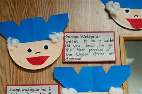 george washington crafts for george washington paper plate craft preschool