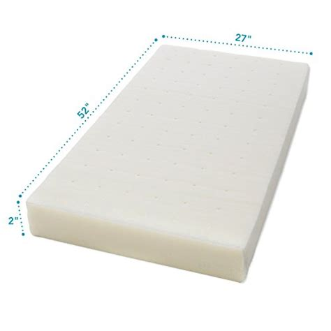 mattress topper for crib milliard 2 inch ventilated memory foam crib toddler bed