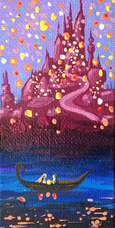 acrylic painting to light or light to lights disney s tangled 2x4 acrylic painting for sale on