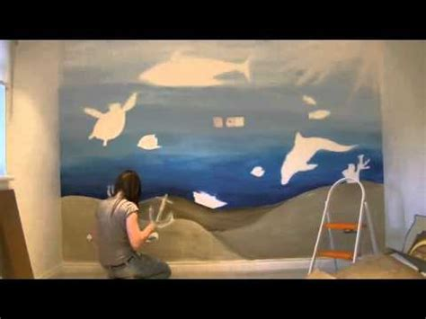 Paint Wall Murals under the sea wall mural time lapse youtube