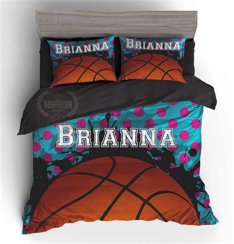 basketball bed set personalized bedding set basketball comforter or duvet