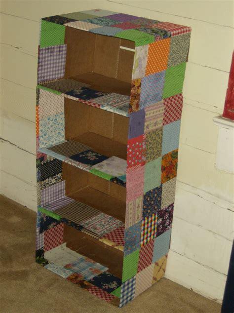 cardboard box crafts for recycled fabric covered cardboard box shelf craftscrazy