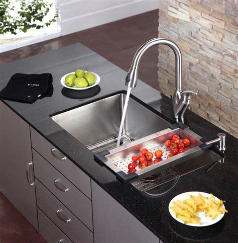 kitchen sink nyc kraus kitchen sink colander modern colanders and