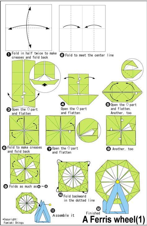 origami wheel project 01 origami ferris wheel diy