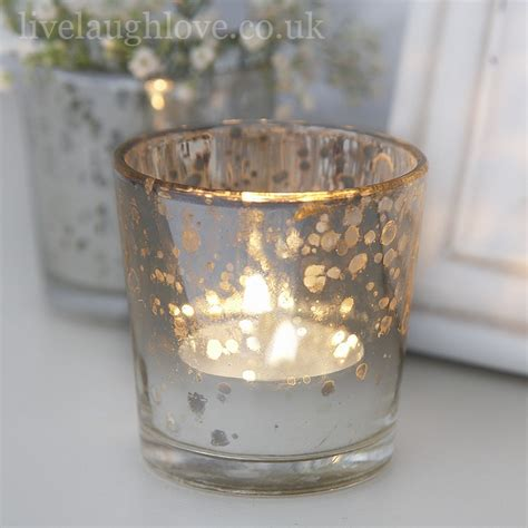 tea tree light holders aged glass silver tea light holder live laugh