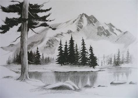 landscapes to draw landscape drawings landscapes and easy pencil drawings on