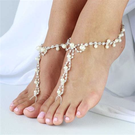 how to make foot jewelry with 1 pair barefoot sandals foot jewelry for weddings