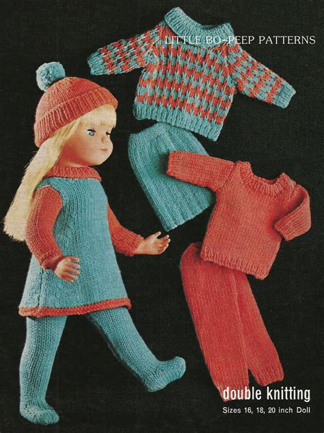 dolls clothes knitting patterns uk knitting pattern for dolls doll clothes to fit 16 18 20 inch