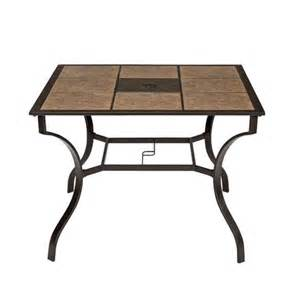 shopko outdoor furniture northcrest bellevue 40 quot square tile top dining table shopko