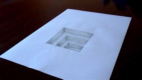 how to draw 3d the original amazing 3d in paper drawing timelapse