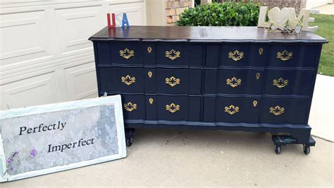 chalk paint finishes midnight blue dresser general finishes design center