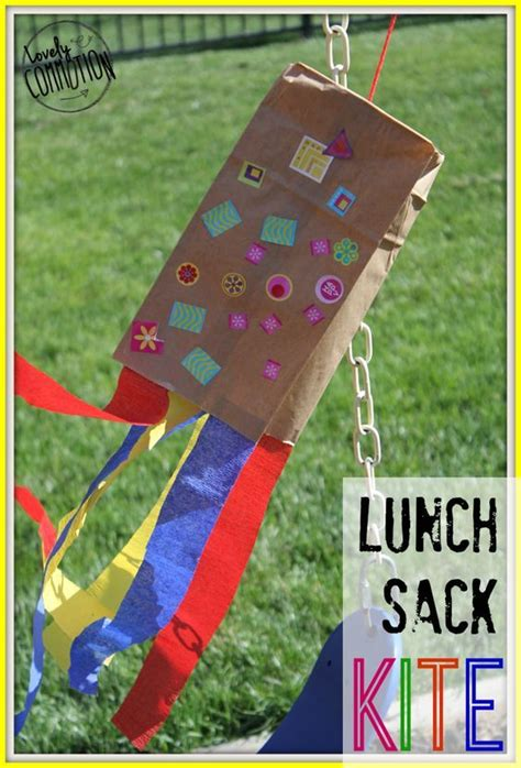 paper bag kite craft sacks bags and summer on