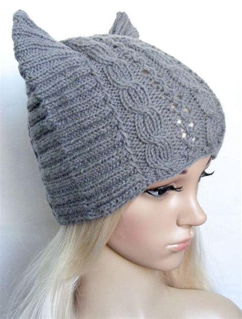 cat ear hat knitting pattern cat ear hat betmen hat womens cat hat knitted cat hat