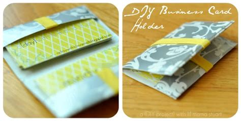 how to make a duct card holder a day with lil stuart diy business card holder
