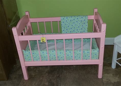 baby doll wooden crib wooden doll crib bed furniture american by