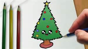 imagenes de un arbol de navidad c 243 mo dibujar un 225 rbol de navidad kawaii